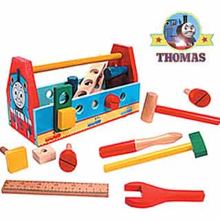 Thomas the Tank Engine wooden toy toolbox playset a grand present for miniature railway engineers