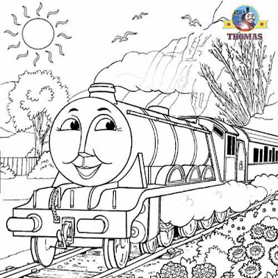 Thomas coloring pictures fastest railway tank engine Gordon coloring pages for boys drawing lessons