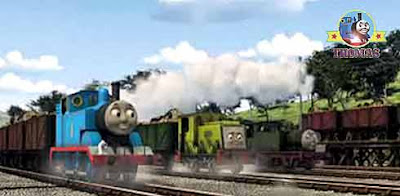 Thomas and friends misty island rescue train Thomas Scruff the Scruncher and Whiff the tank engine