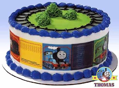 Edible image kids party Thomas the train cake designer print kit decoration for frosted sponge icing