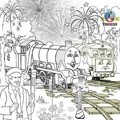 Printable picture Thomas and friends Gordon the tank engine daisy diesel firework coloring sheets