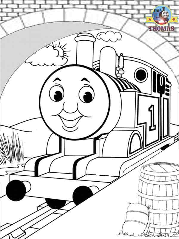 Island rescue Thomas and Percy coloring pages to color in for kids title=