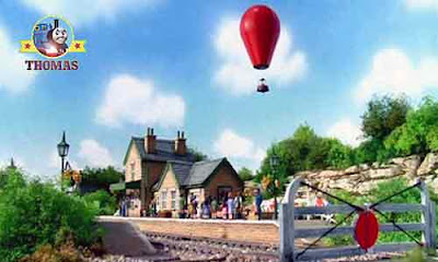 The wonderful childrens story of Thomas the tank engine James and the red balloon ride on Sodor isle
