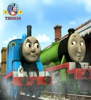 Thomas tank and friends Henry the green engine with Thomas and the Lion of Sodor shipping container