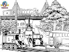 Henry Thomas The Train Coloring Pages