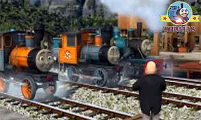 Misty Island Rescue Thomas the tank engine Bash and Dash logging locomotives on the a foggy railway