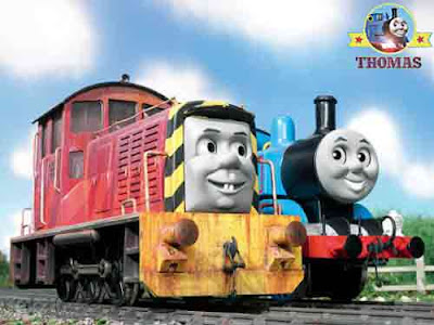 Thomas the tank engine salty the dockyard diesel loves Brendam docks working with Henry the train