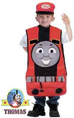 3D Apron fancy dress James the red engine Halloween costume for kids Trick or Treat Jack o lantern