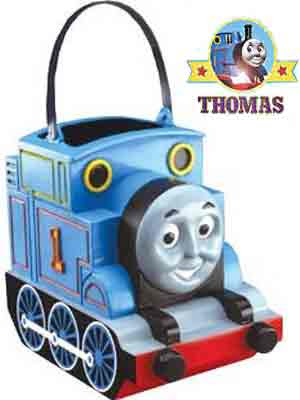 Boys and girls Thomas the tank Trick or Treat Pail Candy Catcher to stash peanuts and chocolate bars
