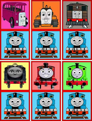 Fun kids colorful picture domino toy set Thomas the tank engine characters with Hero the tank engine