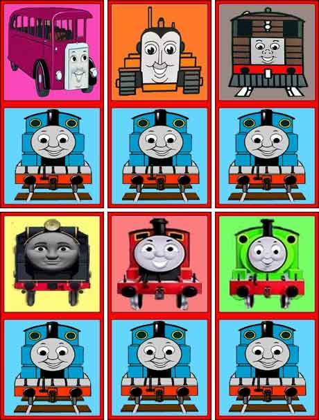 Kids Colorful Picture Domino Set Thomas The Tank Engine