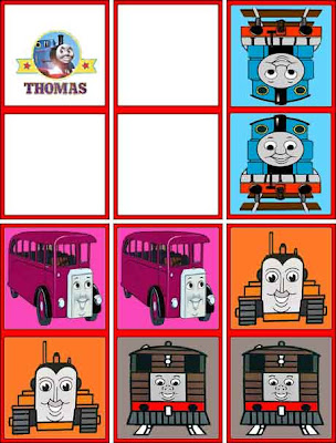 Children colorful picture domino set Thomas the tank engine toy game with Terence the orange tractor