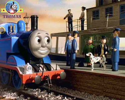 Thomas the tank engine friends with mother of Sir Topham Hatt and gremlin the Dalmatian puppy dog
