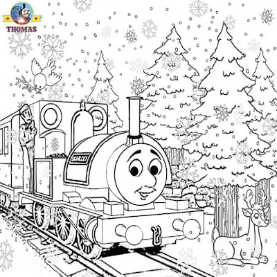 Christmas snow Skarloey Thomas the tank engine colouring sheets free online coloring pages for boys