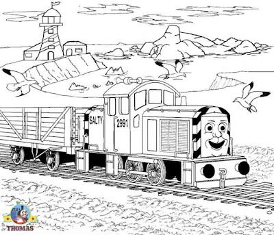 Bird online printable pictures of Thomas coloring for kids Thomas and friends salty the train images