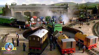 Thomas the train a Special letter delivery hurray the locomotives happily whistled on Sodor Island
