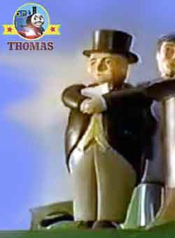 Sir Topham Hatt voice echoed around the roundhouse turntable important news Special letter delivery