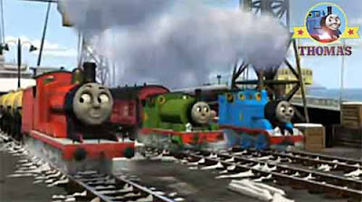 Childrens Christmas motion picture Merry Winter Wish Sodor train James and Percy the green engine
