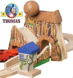 Thomas and friends wooden railway Learning Curve high quality wood model toy Boulder Mountain set