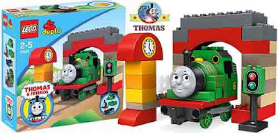 Pre K Children adore learning with Percy the green engine Tomas LEGO Duplo Percy at the Sheds 5543