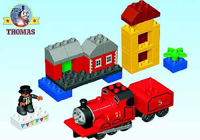 kids Thomas the tank engine train set toys for toddlers LEGO Duplo James Celebrates Sodor Day 5547