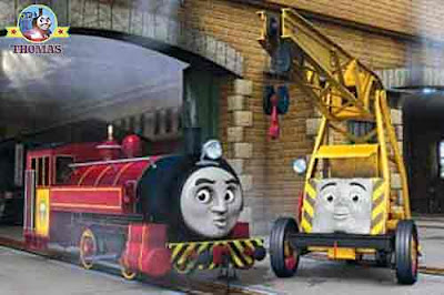 Kids DVD Hero of the Rails Thomas the tank engine Victor and Kevin the crane in the Sodor Steamworks
