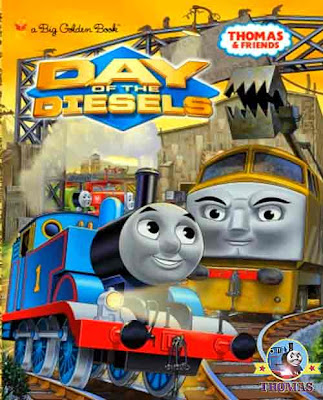 Sodor Dieselworks hardcover kids storybook Thomas and friends day of the diesels DVD 2011 new movie