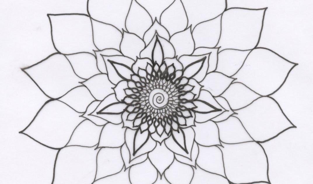Mandalas para vivir plantillas de mandalas para colorear - Plantilla mandala pared ...