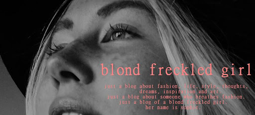 blond freckled girl
