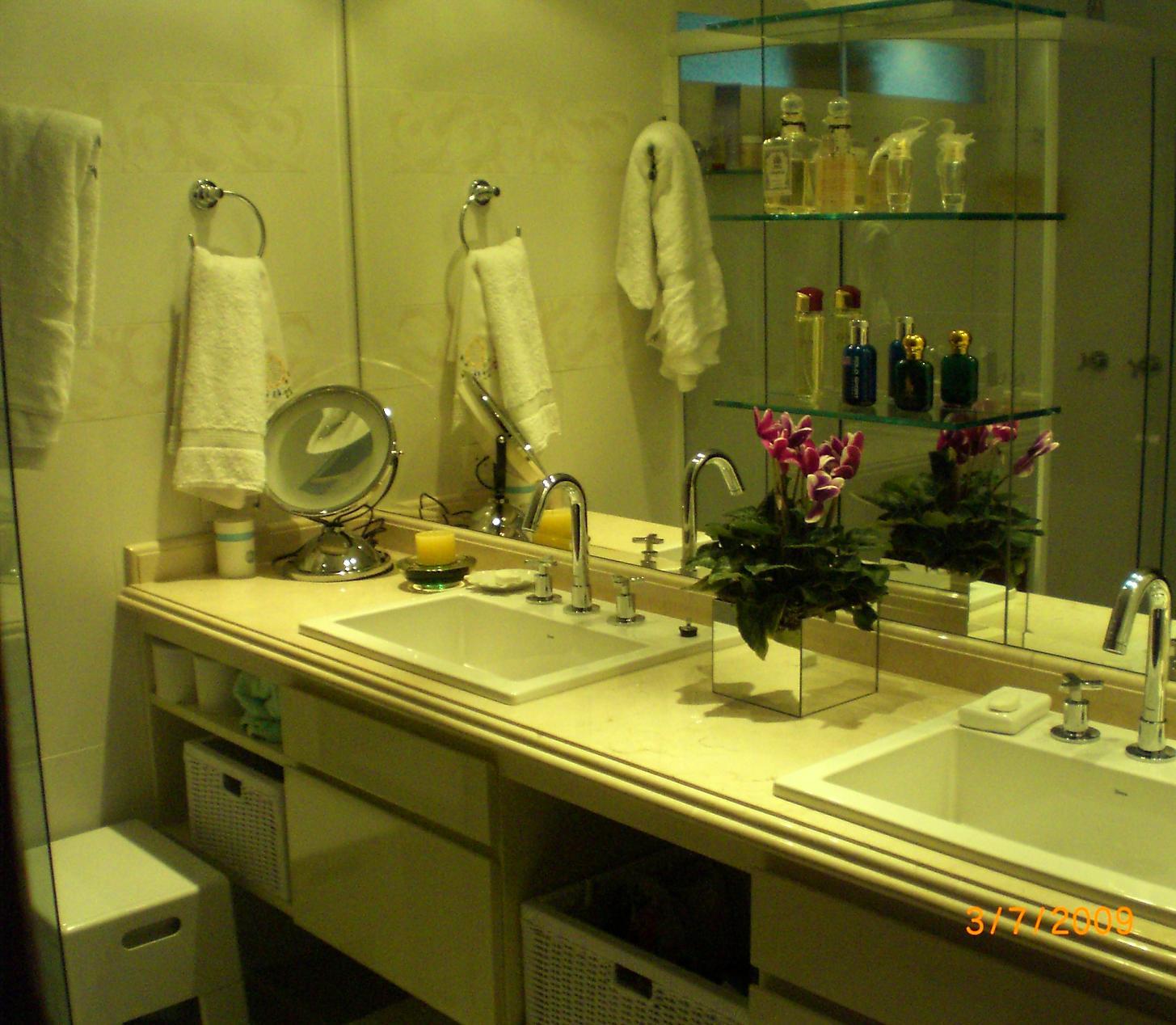 Gabinete laqueado duas cubas de sobrepor nichos com cestos de vime e  #36350D 1455 1268