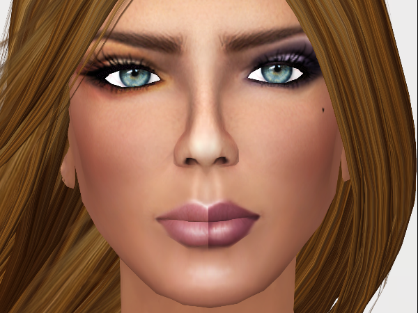 Wearing Tan 014 (gold makeup) and Tan 009 (purplish makeup).