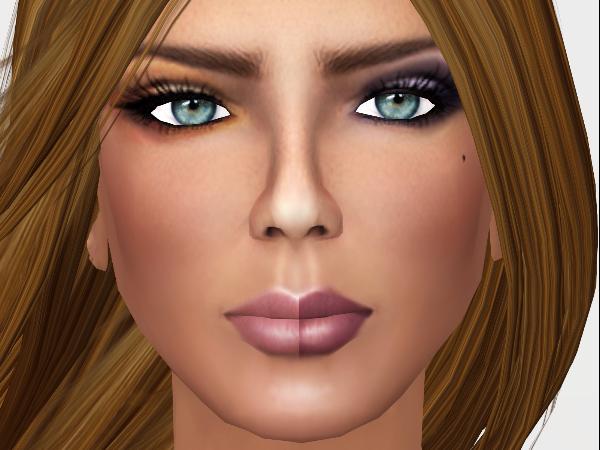 Wearing Tan 014 (gold makeup) and Tan 009 (purplish makeup).
