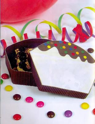 Fiesta Infantil : Caja Porta Torta
