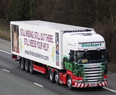 Eddie Stobart joins search for missing Maddie Stobbart