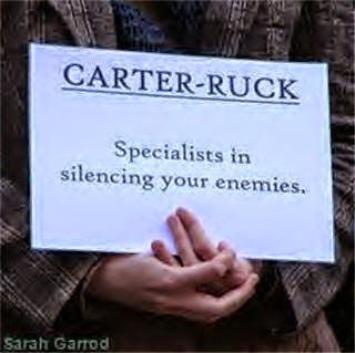 The Guardian gagged by Carter-Ruck  Specialists+in+silencing
