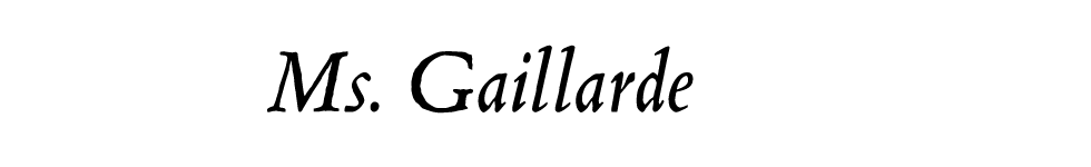 Ms. Gaillarde