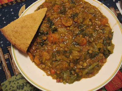 Mille Fiori Favoriti: Lentil Soup with Italian Sausage and Escarole