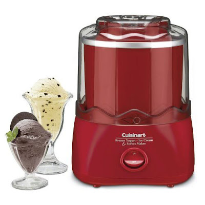 Cuisinart Red Automatic Frozen Yogurt Ice Cream sorbet Maker