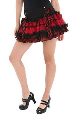 Black Red Skirt