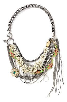 Juicy Couture Flower Punk Necklace
