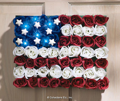 Patriotic Light Floral American Flag