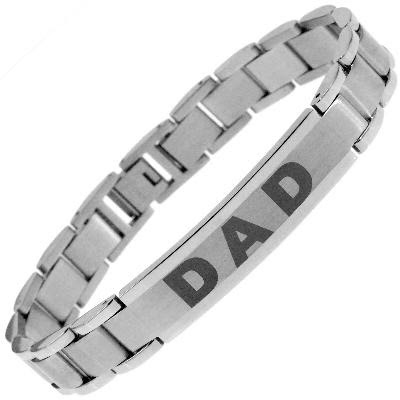 Men Two Tone Stainless Steel DAD Bracelet