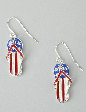 Americana Flip-Flop Earrings
