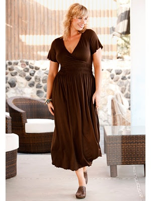 Empire surplice plus size dress