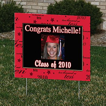 Personalized Graduation Photo Yard Sign gift