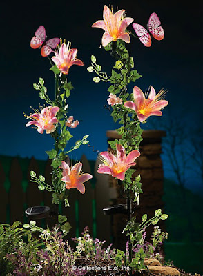 Fiber Optic Lillies Lawn Stake