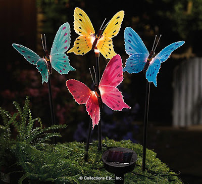 Fiber Optic Butterfly Lawn Stakes