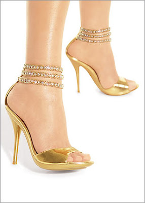 Rhinestone Ankle Stiletto