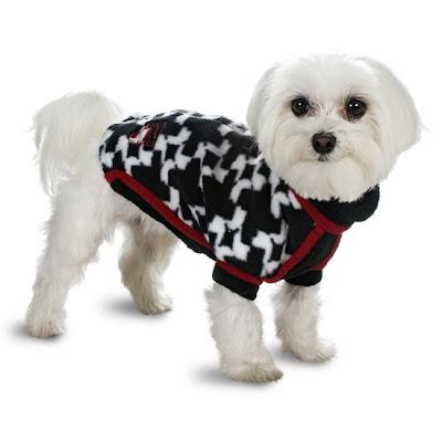 Fido Fleece Houndstooth Dog Coats