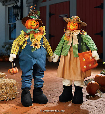 Lighted Scarecrows